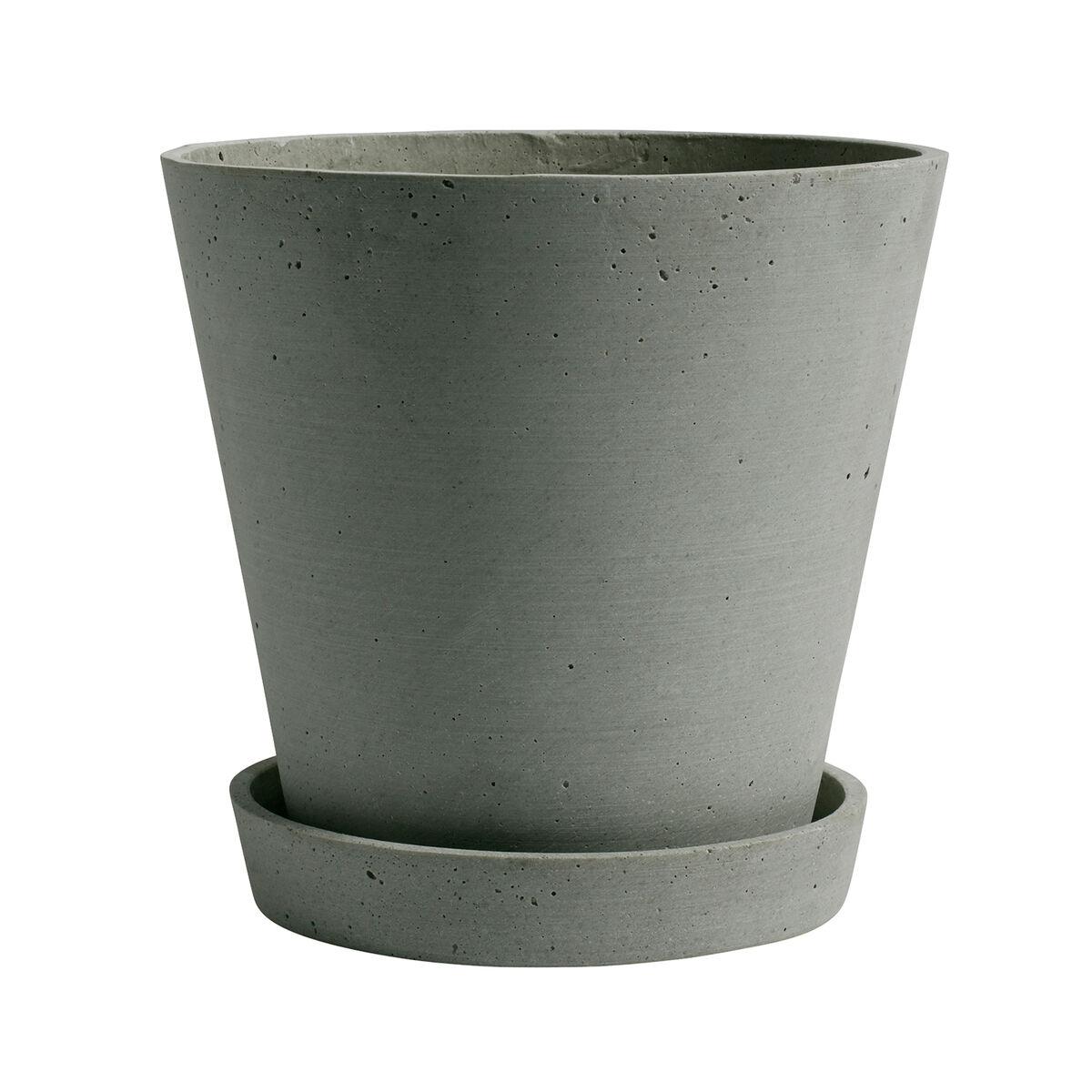 Hay Flowerpot ruukku ja lautanen, XL, vihreä