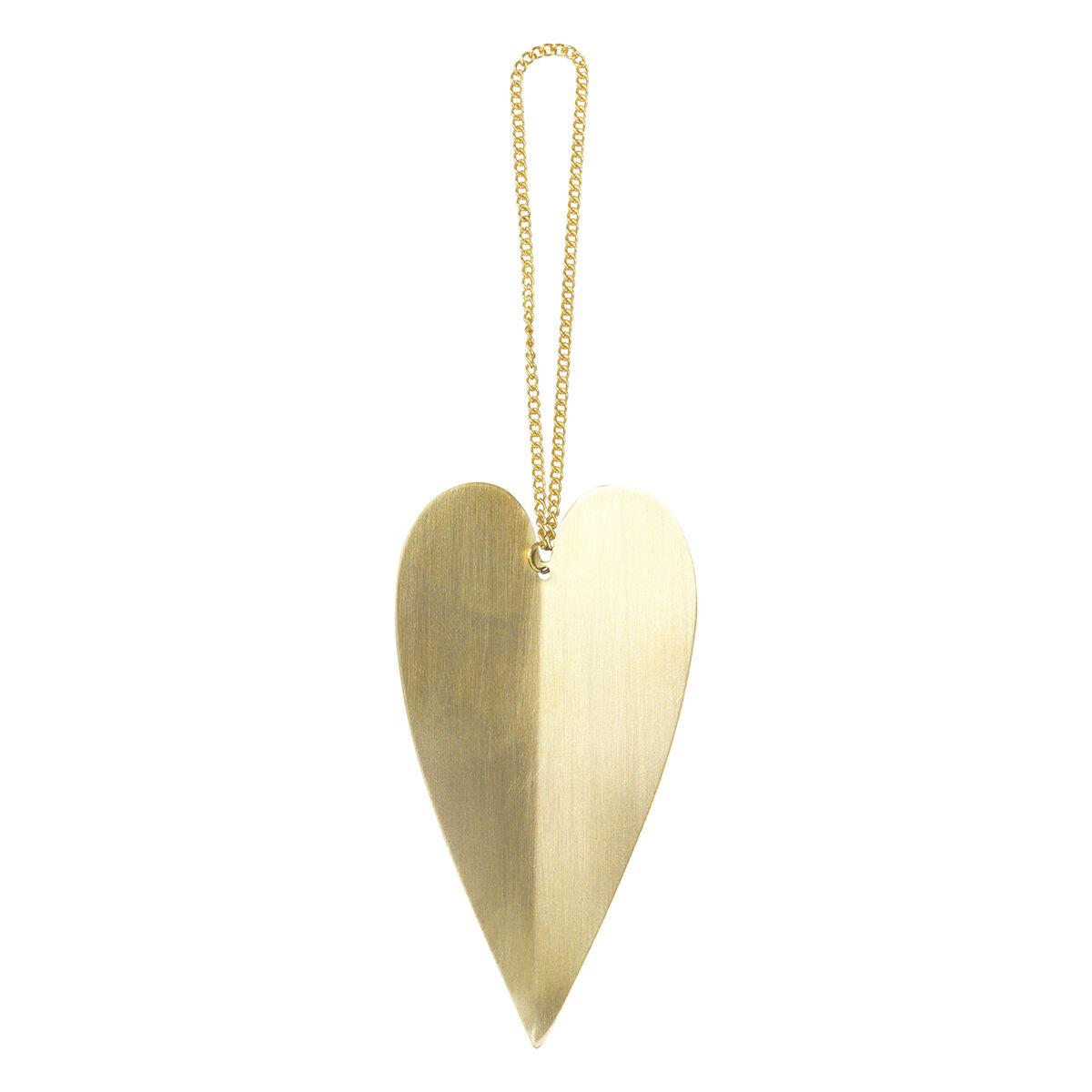 Ferm Living Heart joulukoriste, messinki, 4 kpl