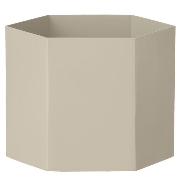 Ferm Living Hexagon ruukku XL, harmaa
