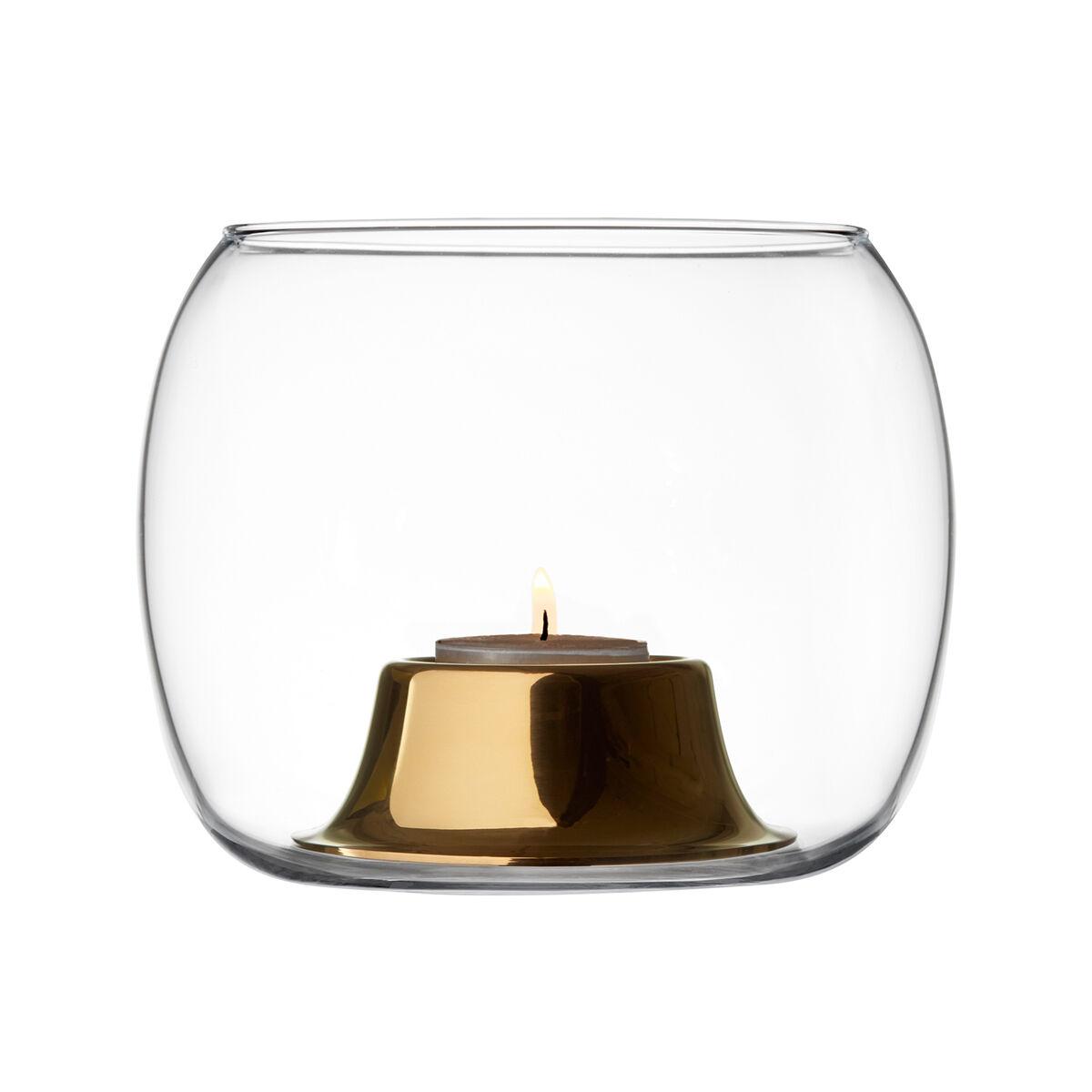 iittala Kaasa kynttilälyhty, kirkas - ruusukulta