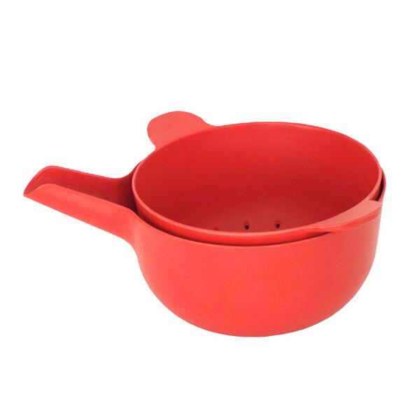 Ekobo Pronto kulho ja siivilä, S, tomato