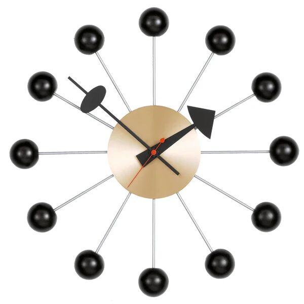 Vitra Ball Clock seinäkello, musta - messinki