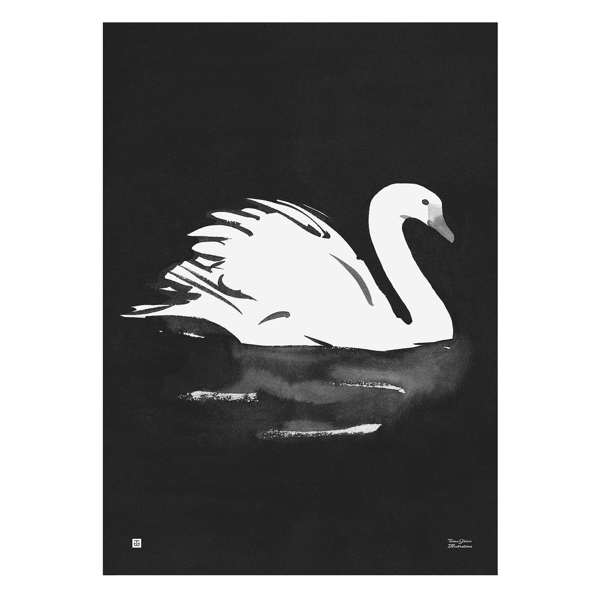 Teemu Järvi Illustrations Joutsen juliste, 50 x 70 cm