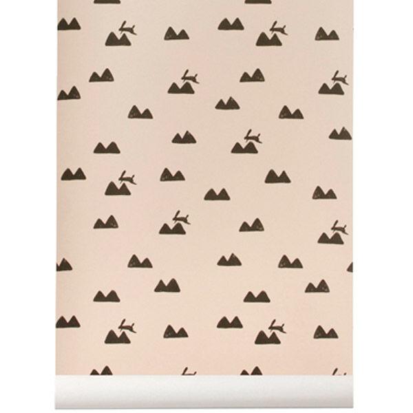 Ferm Living Rabbit tapetti, roosa
