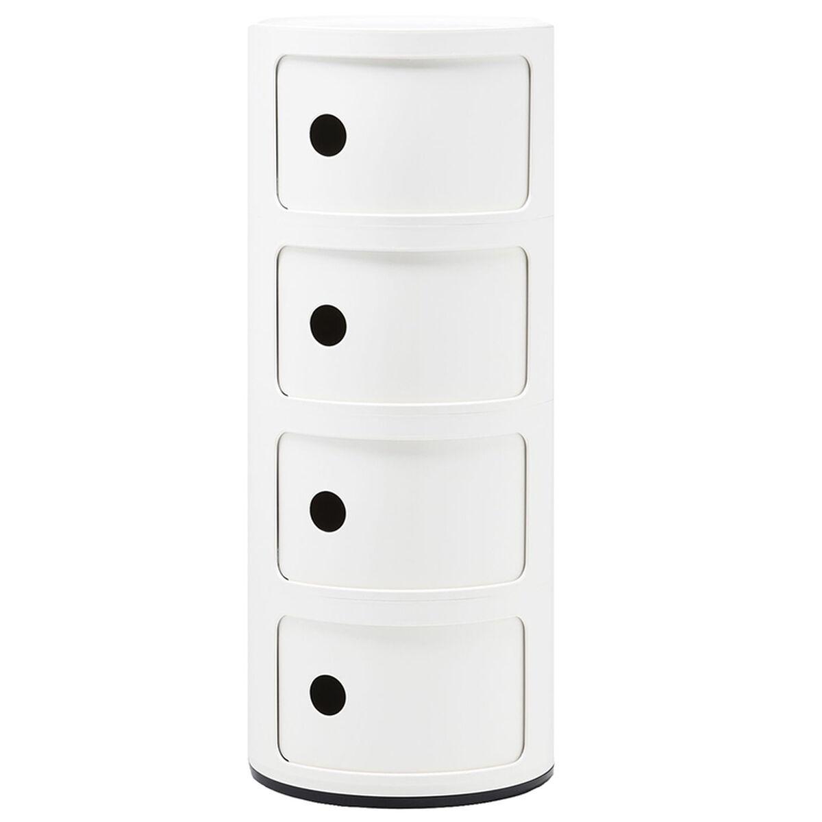 Kartell Componibili s�ilytyskaluste, 4-osainen, valkoinen