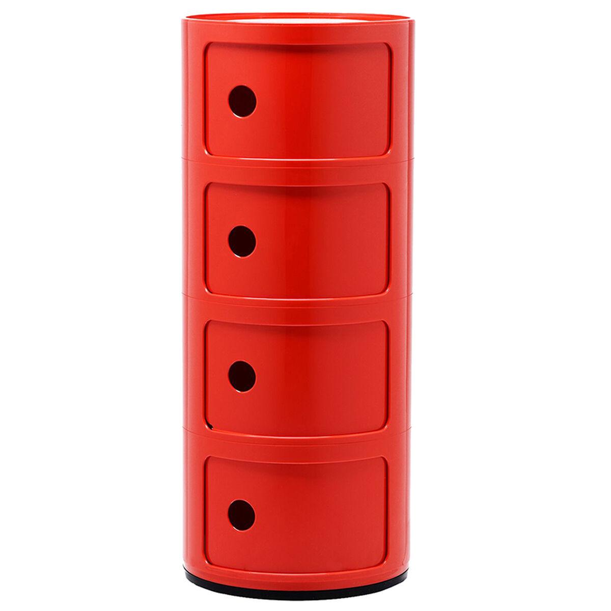 Kartell Componibili s�ilytyskaluste, 4-osainen, punainen