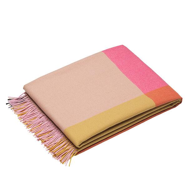 Vitra Colour Block torkkupeitto, vaaleanpunainen - beige