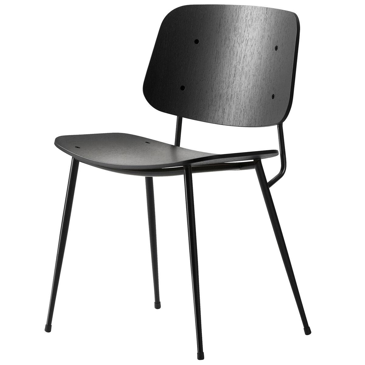 Fredericia S�borg tuoli 3060, musta ter�srunko, musta tammi
