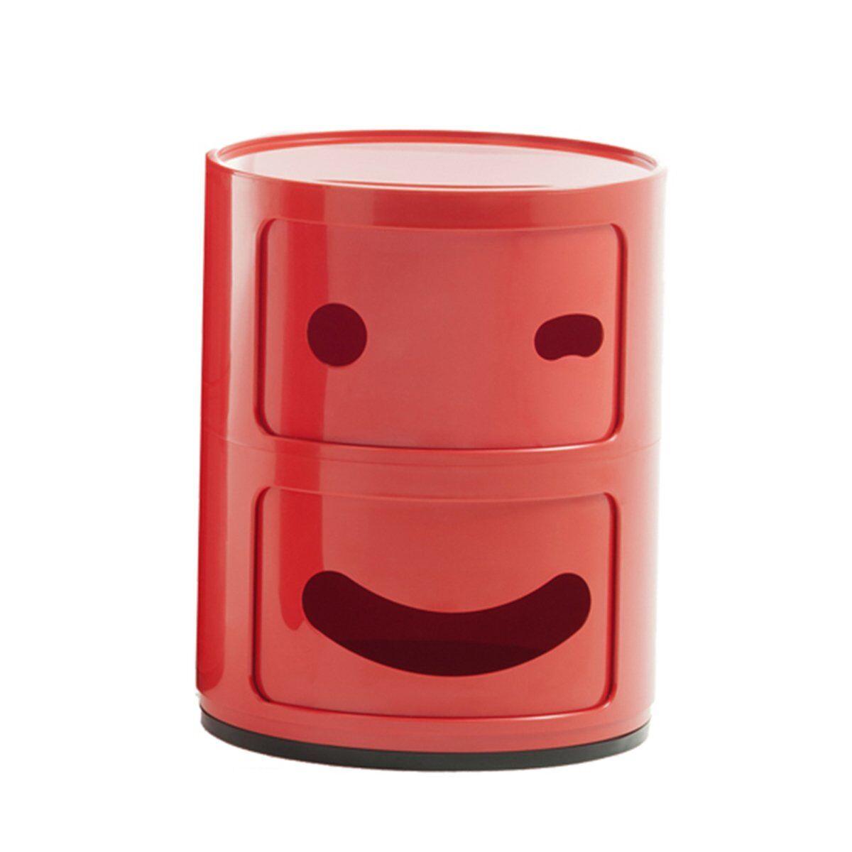 Kartell Componibili Smile s�ilytyskaluste 3, 2-osainen, punainen