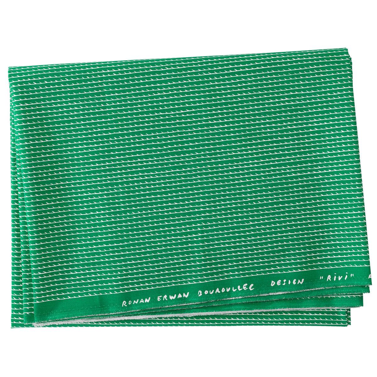 Artek Rivi akryylipinnoitettu kangas 145 x 300 cm, vihre�-valkoinen
