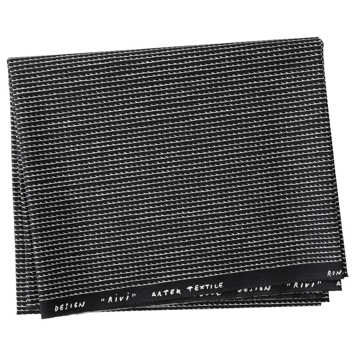 Artek Rivi canvas puuvillakangas 150 x 300 cm, musta-valkoinen