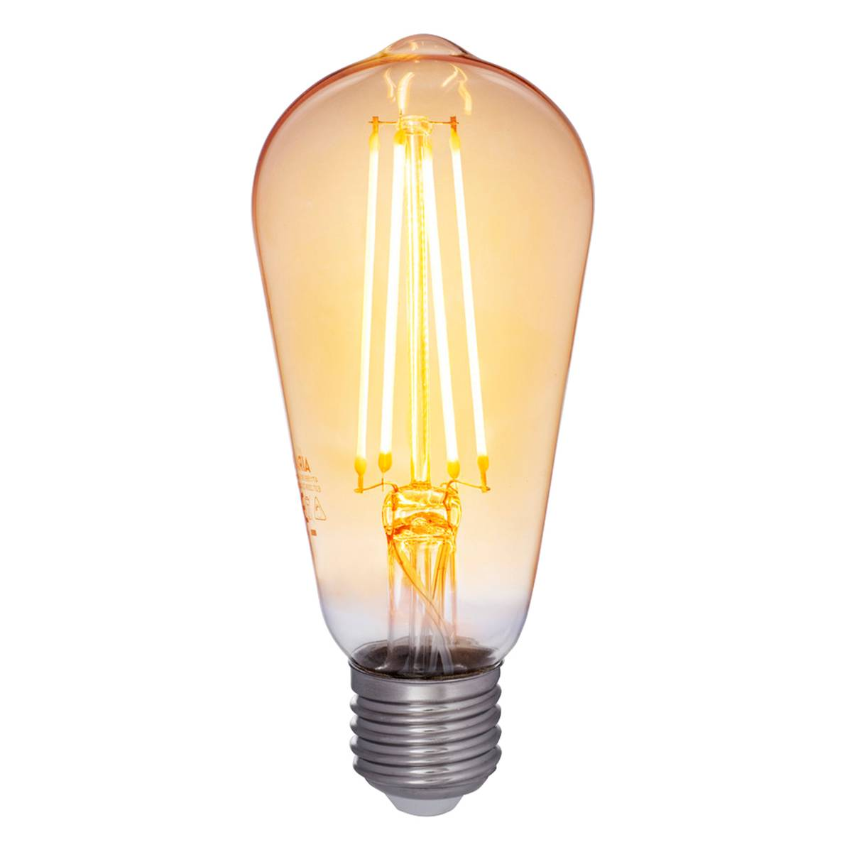 Airam Decor Amber LED Edison lamppu 5W E27 380lm, himmennett�v�