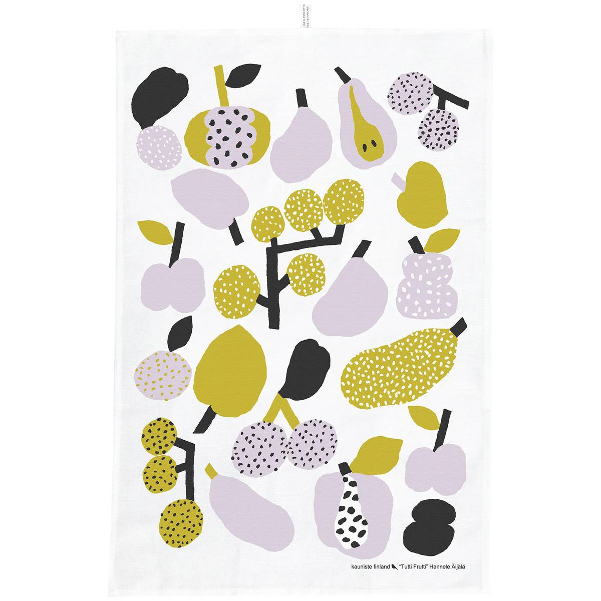 Kauniste Tutti Frutti keittiöpyyhe, oliivinvihreä