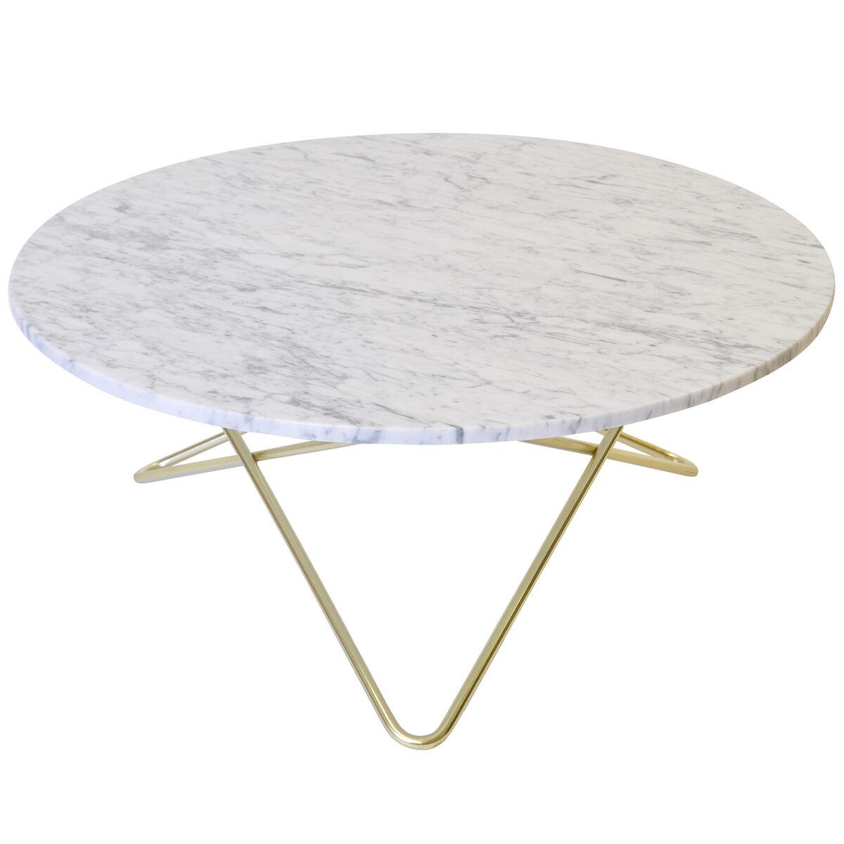 OX Denmarq O p�yt�, messinki - valkoinen marmori
