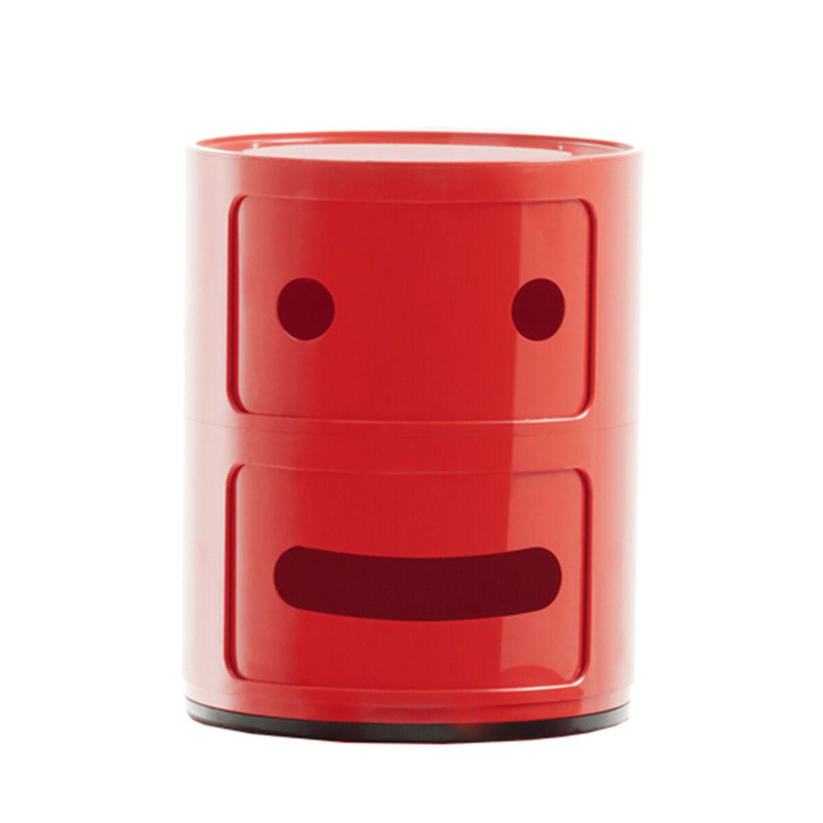 Kartell Componibili Smile s�ilytyskaluste 2, 2-osainen, punainen