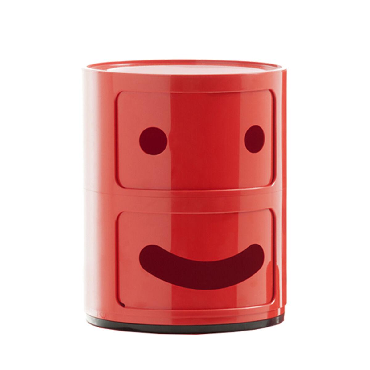 Kartell Componibili Smile s�ilytyskaluste 1, 2-osainen, punainen