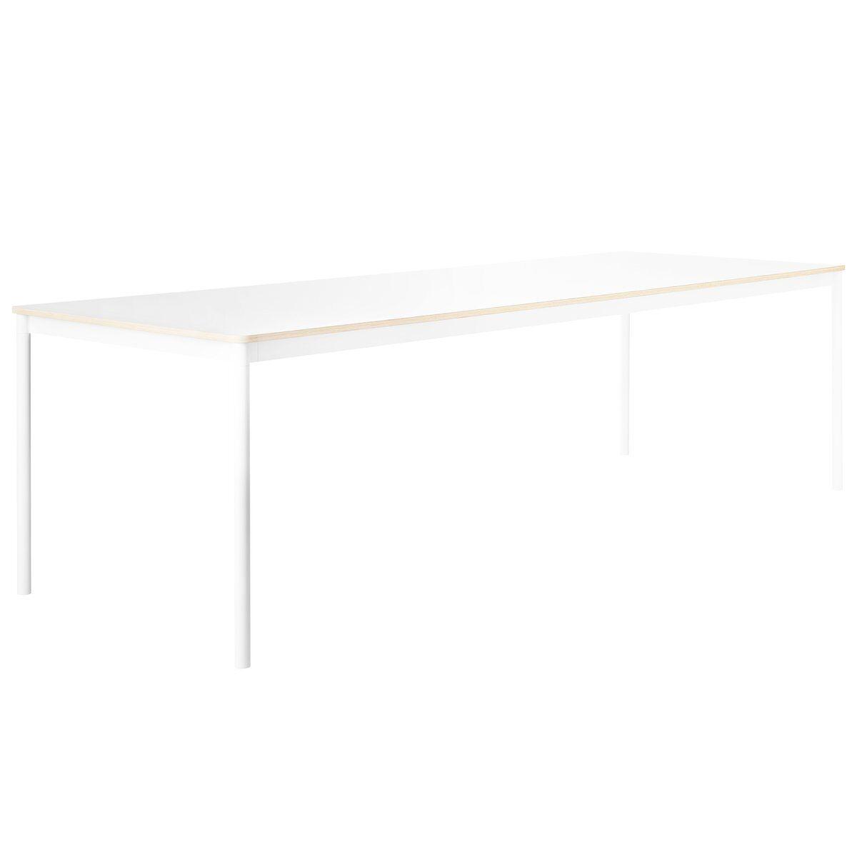 Muuto Base p�yt� 190 x 85 cm, laminaatti vanerireunalla, valkoinen