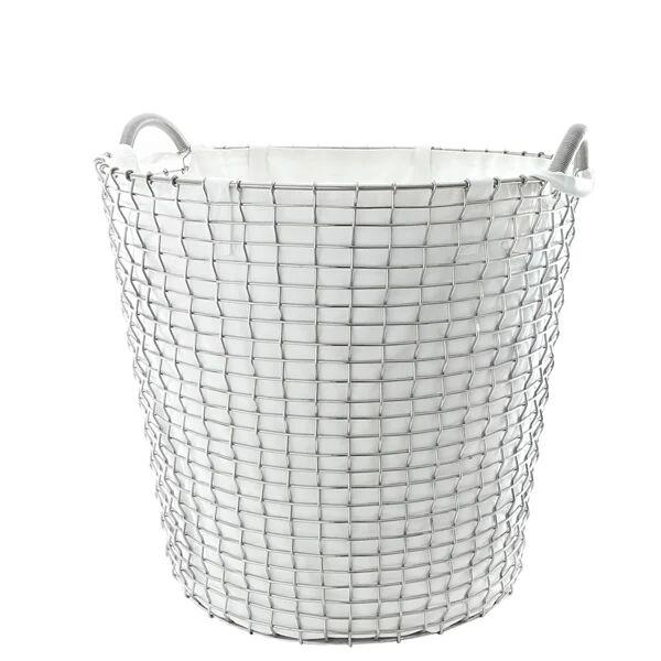 Korbo Pyykkipussi metallikoriin Classic 65, luonnonvalkoinen