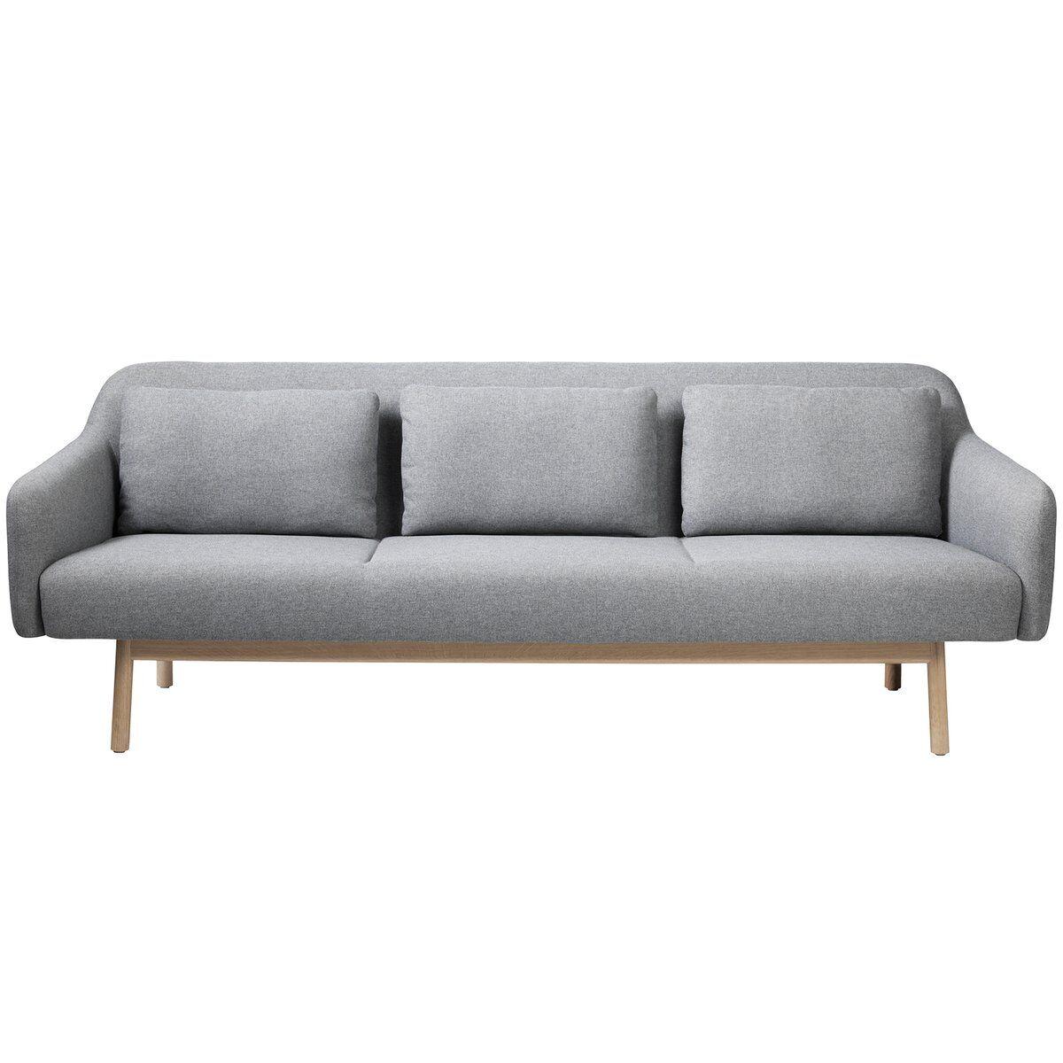 FDB M�bler L34 Gesja sohva, 3-istuttava, vaaleanharmaa