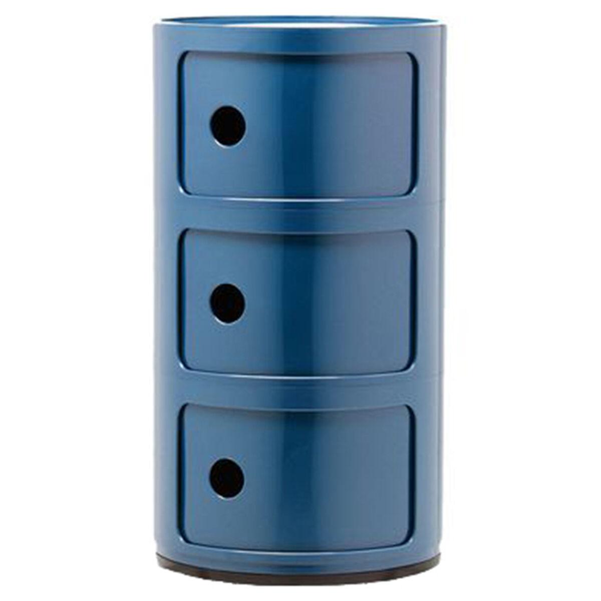 Kartell Componibili s�ilytyskaluste, 3-osainen, sininen