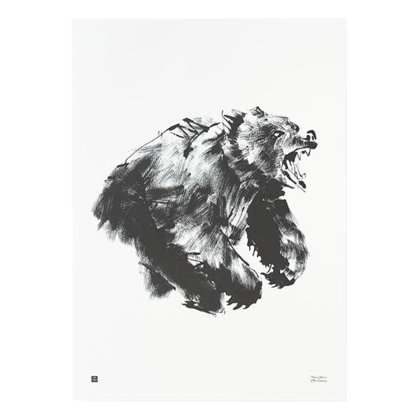 Teemu Järvi Illustrations Karhu juliste, 50 x 70 cm