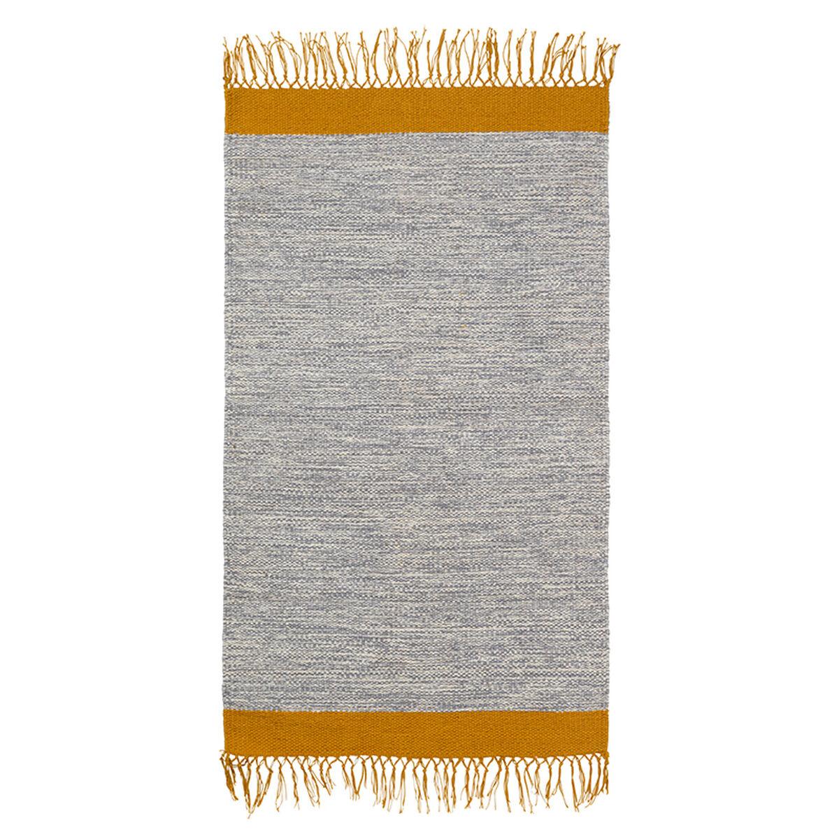 Ferm Living Melange kylpyhuoneen matto, harmaa-keltainen