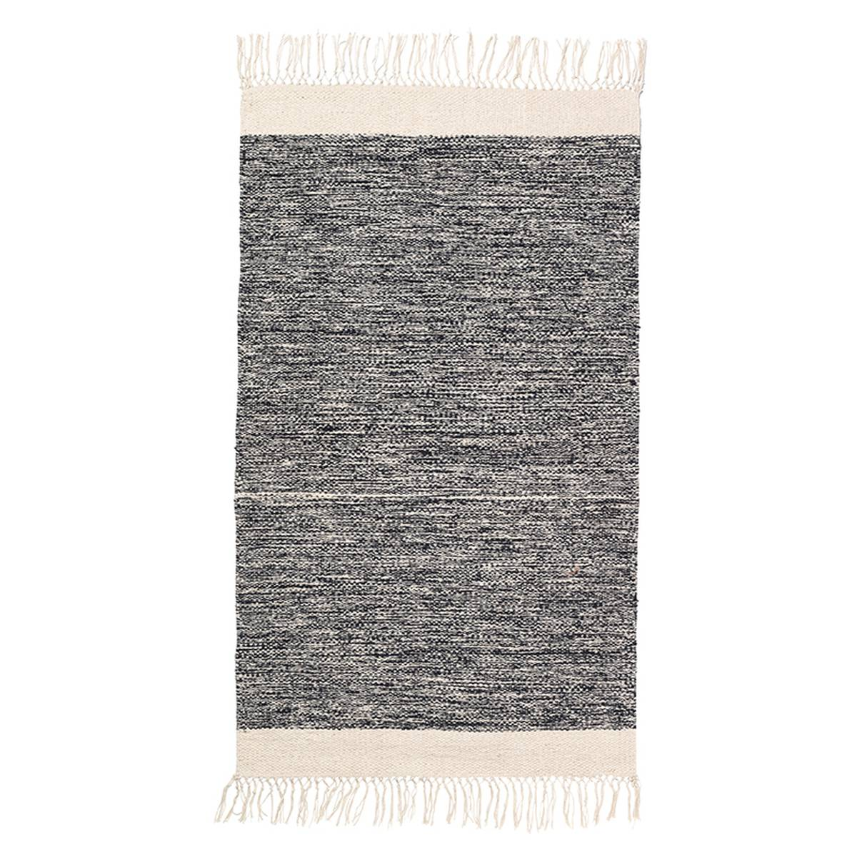 Ferm Living Melange kylpyhuoneen matto, musta