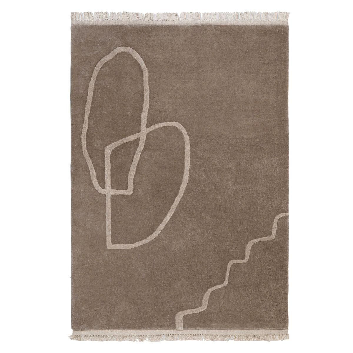 Image of Ferm Living Desert tuftattu matto 140 x 200 cm, hiekka