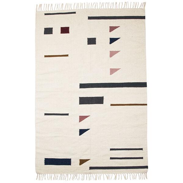 Image of Ferm Living Kelim matto, Triangles, 140 x 200 cm