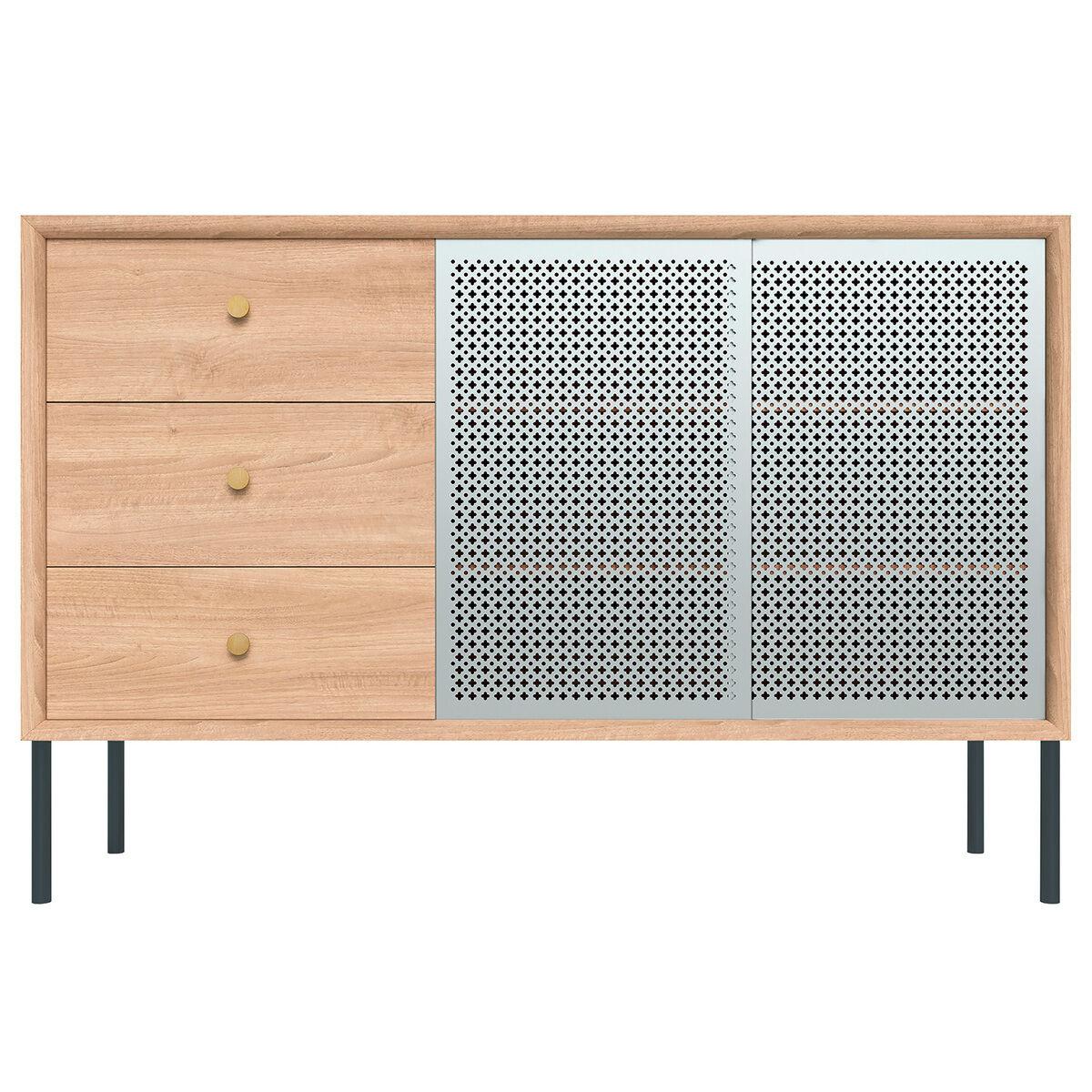 Harto Gabin senkki laatikostolla, korkea, tammi - vaaleanharmaa