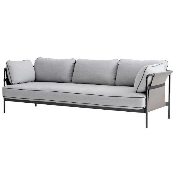Hay Can sohva 3-istuttava, musta-harmaa runko, Surface 120