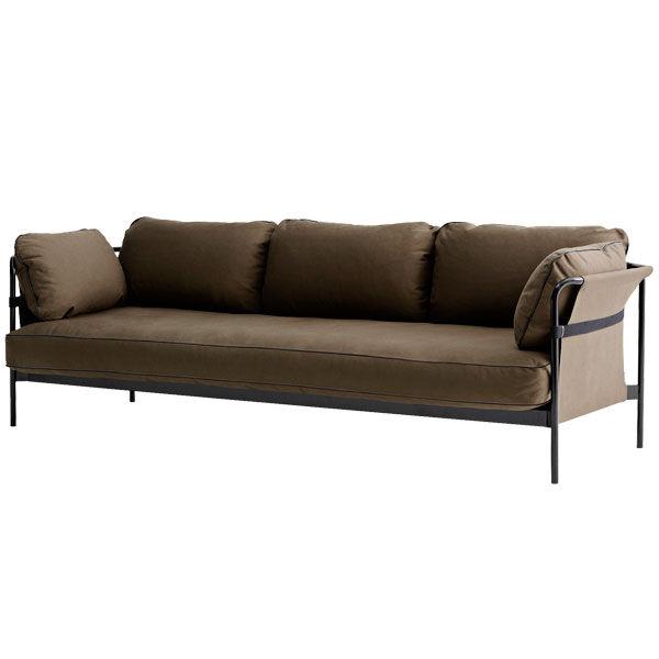 Hay Can sohva 3-istuttava, musta-army runko, Army Canvas