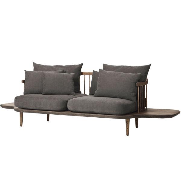 &Tradition Fly SC3 sohva sivup�ydill�, savustettu tammi - Hot Madison 093