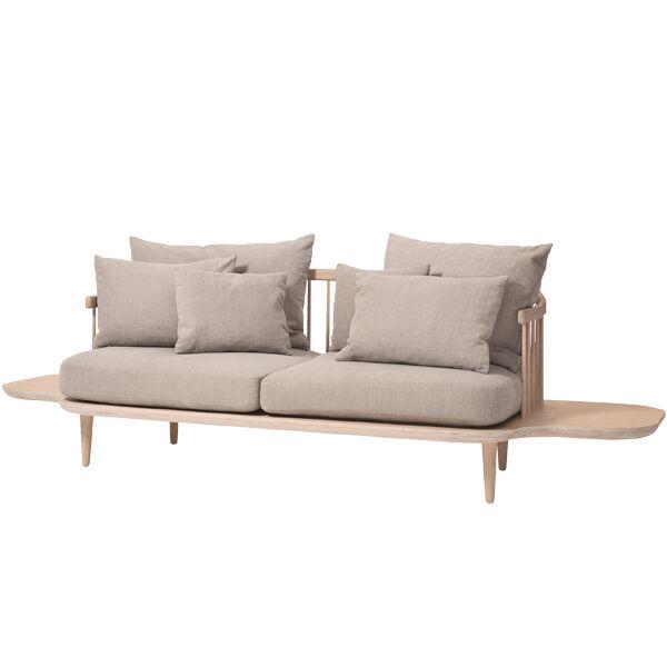 &Tradition Fly SC3 sohva sivup�ydill�, valko�ljytty tammi - Hot Madison 094