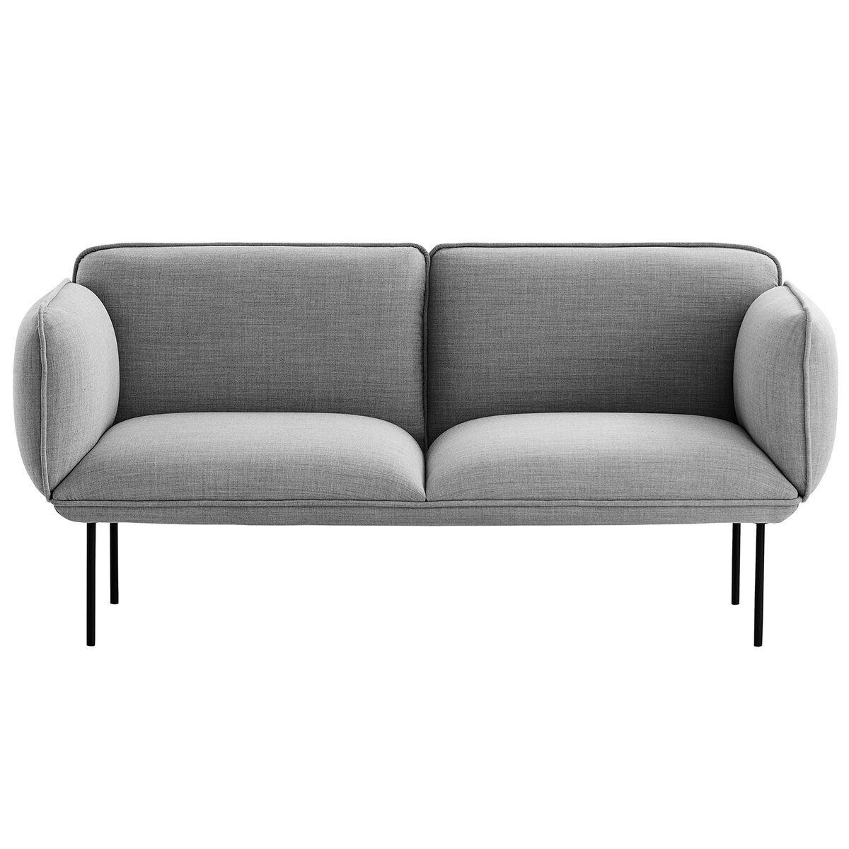 Woud Nakki 2-istuttava sohva, vaaleanharmaa