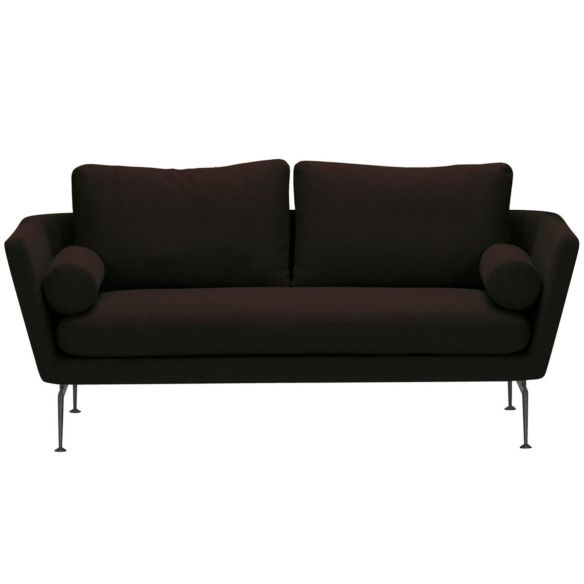 Vitra Suita sohva, 2-istuttava, basic dark - musta/ruskea