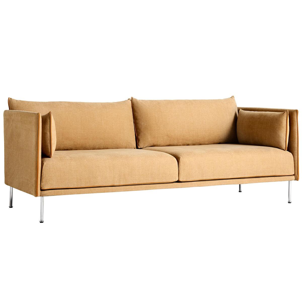 Hay Silhouette sohva 3-ist, Linara 142/Silk cognac - kromi