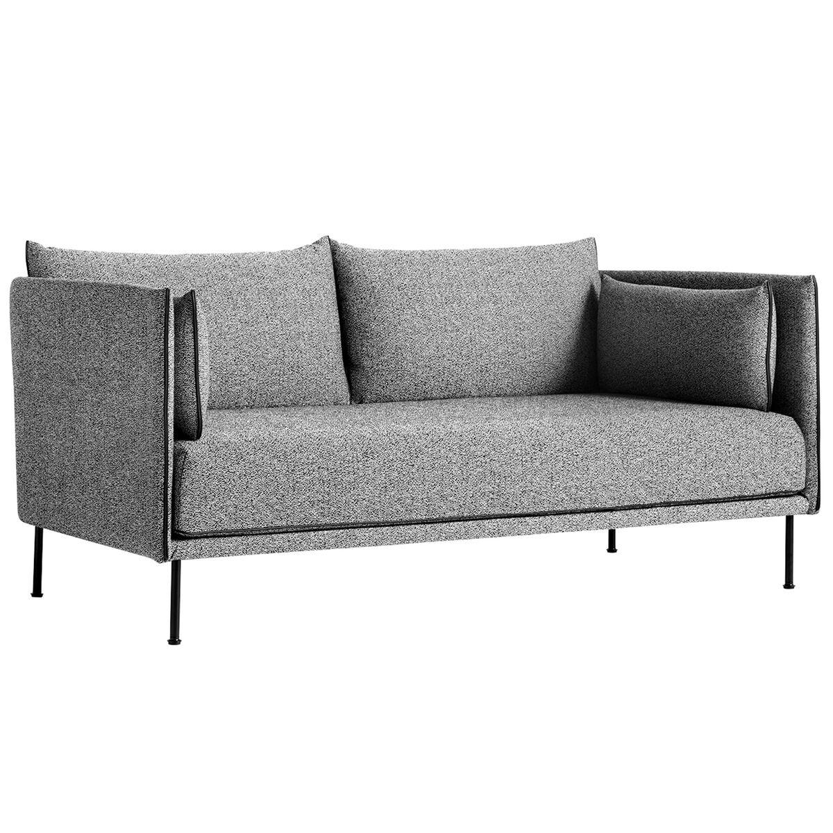 Hay Silhouette sohva 2-ist,  Olavi 03/Silk black - musta ter�s