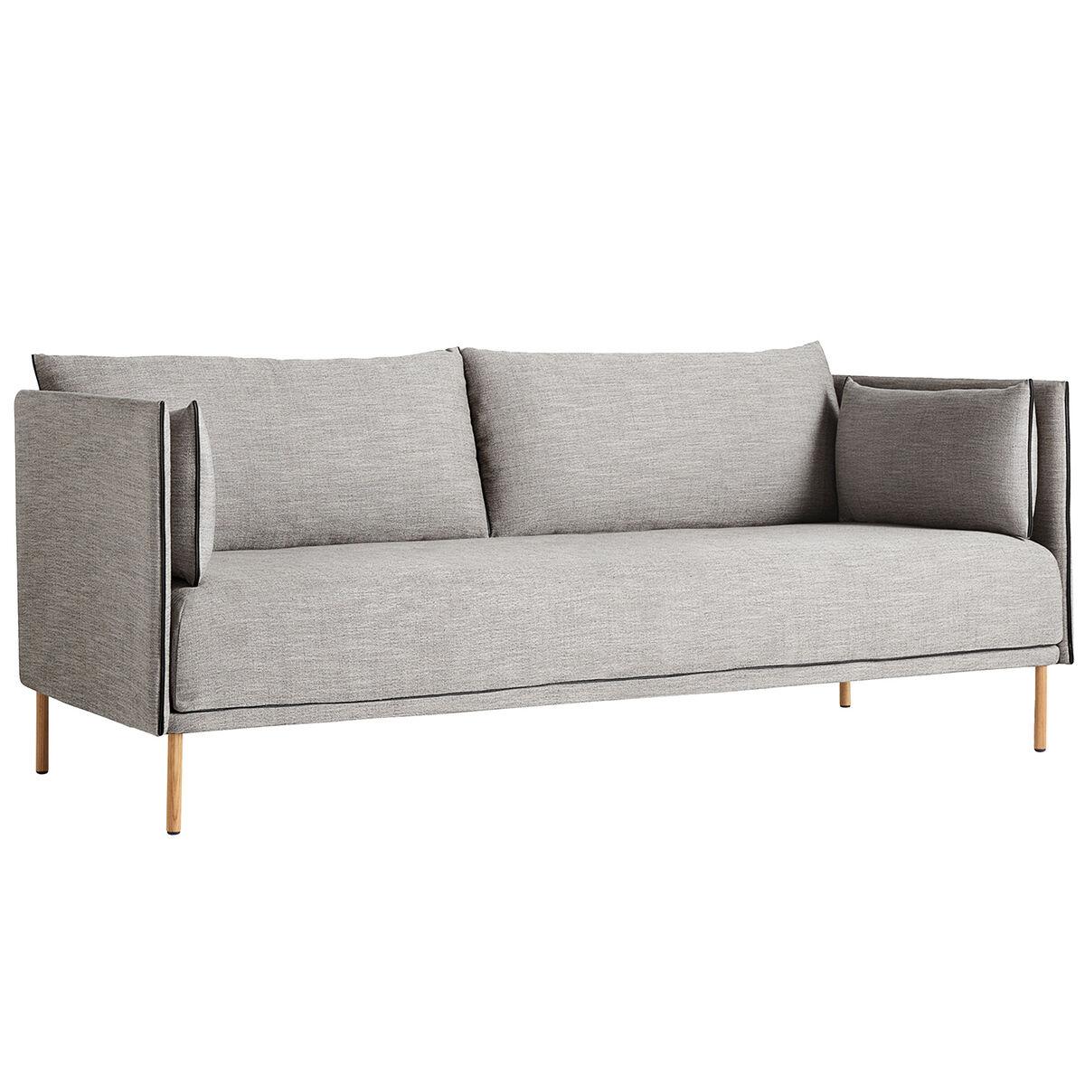 Hay Silhouette sohva 2-ist, Ruskin 33/Silk black - öljytty tammi