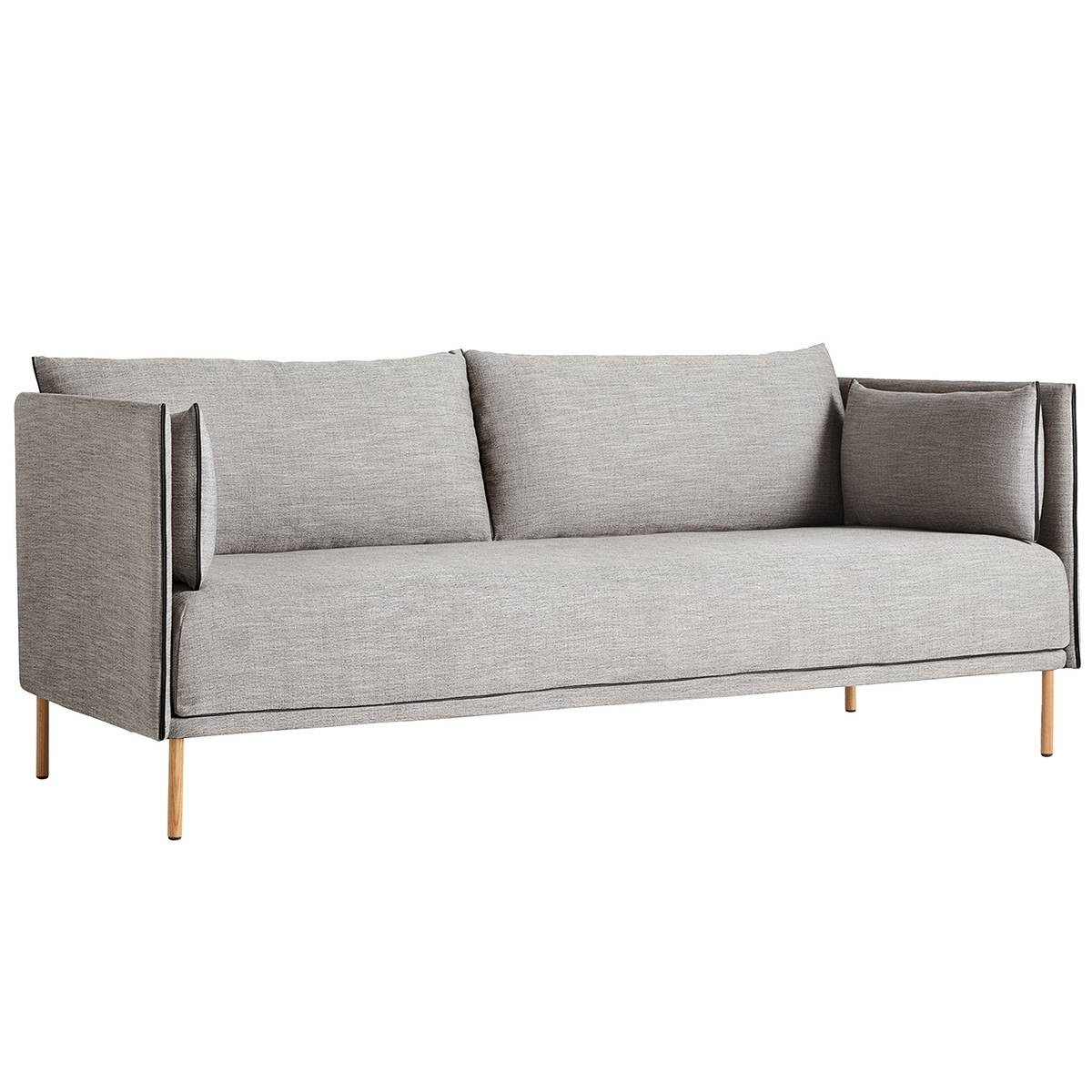 Image of Hay Silhouette sohva 2-ist, Ruskin 33/Silk black - öljytty tammi