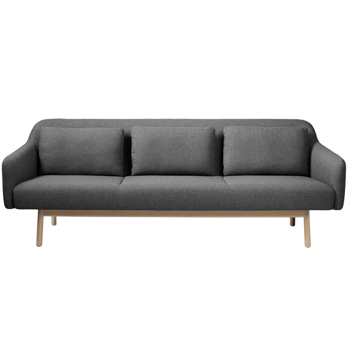 FDB M�bler L34 Gesja sohva, 3-istuttava, tummanharmaa