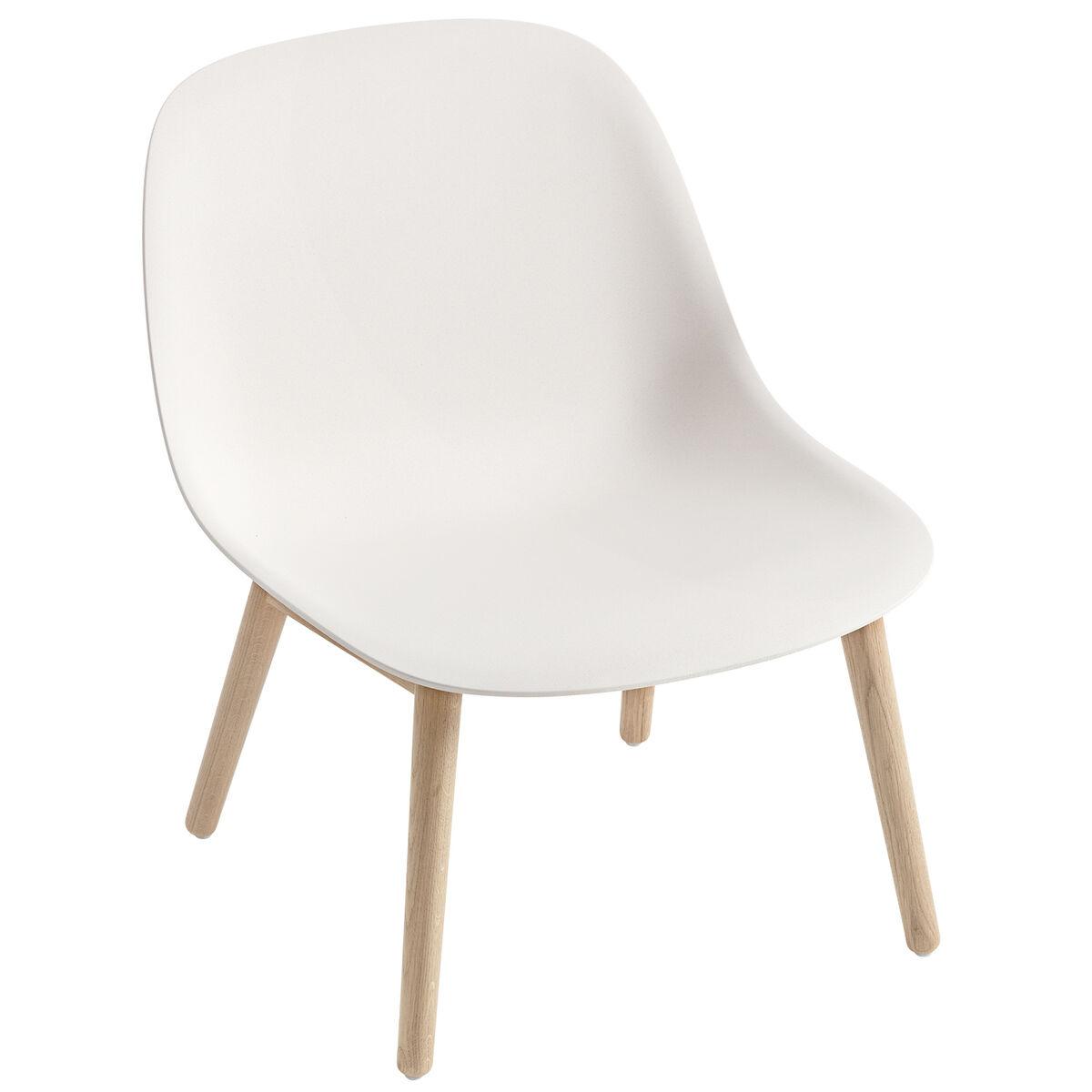 Muuto Fiber nojatuoli, puujalat, valkoinen - tammi