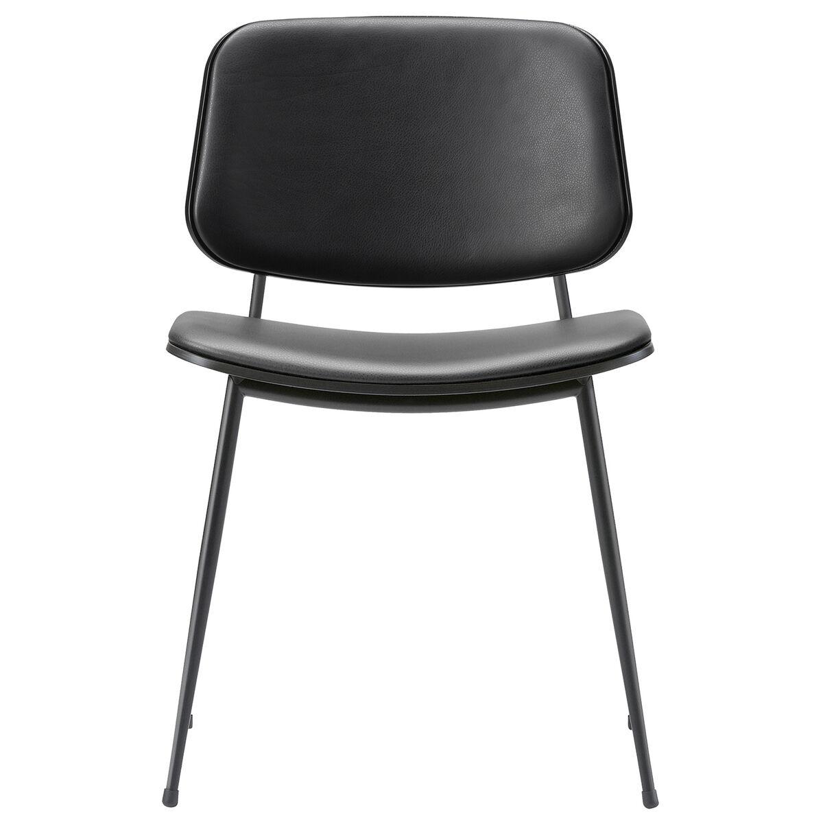 Fredericia S�borg tuoli 3062, musta ter�srunko, musta tammi - musta nahka