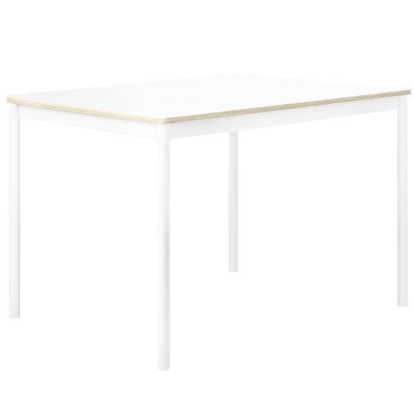Muuto Base pöytä 140 x 80 cm, laminaatti vanerireunalla