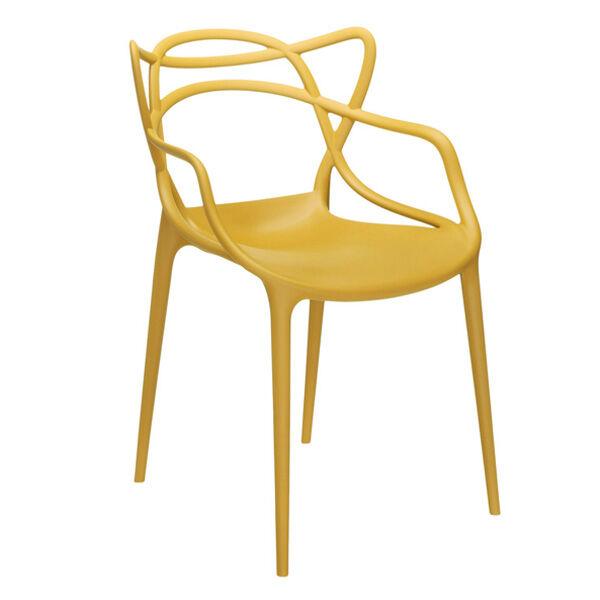 Kartell Masters tuoli, sinapinkeltainen