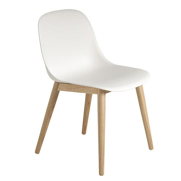Muuto Fiber ruokapöydän tuoli, tammi - valkoinen