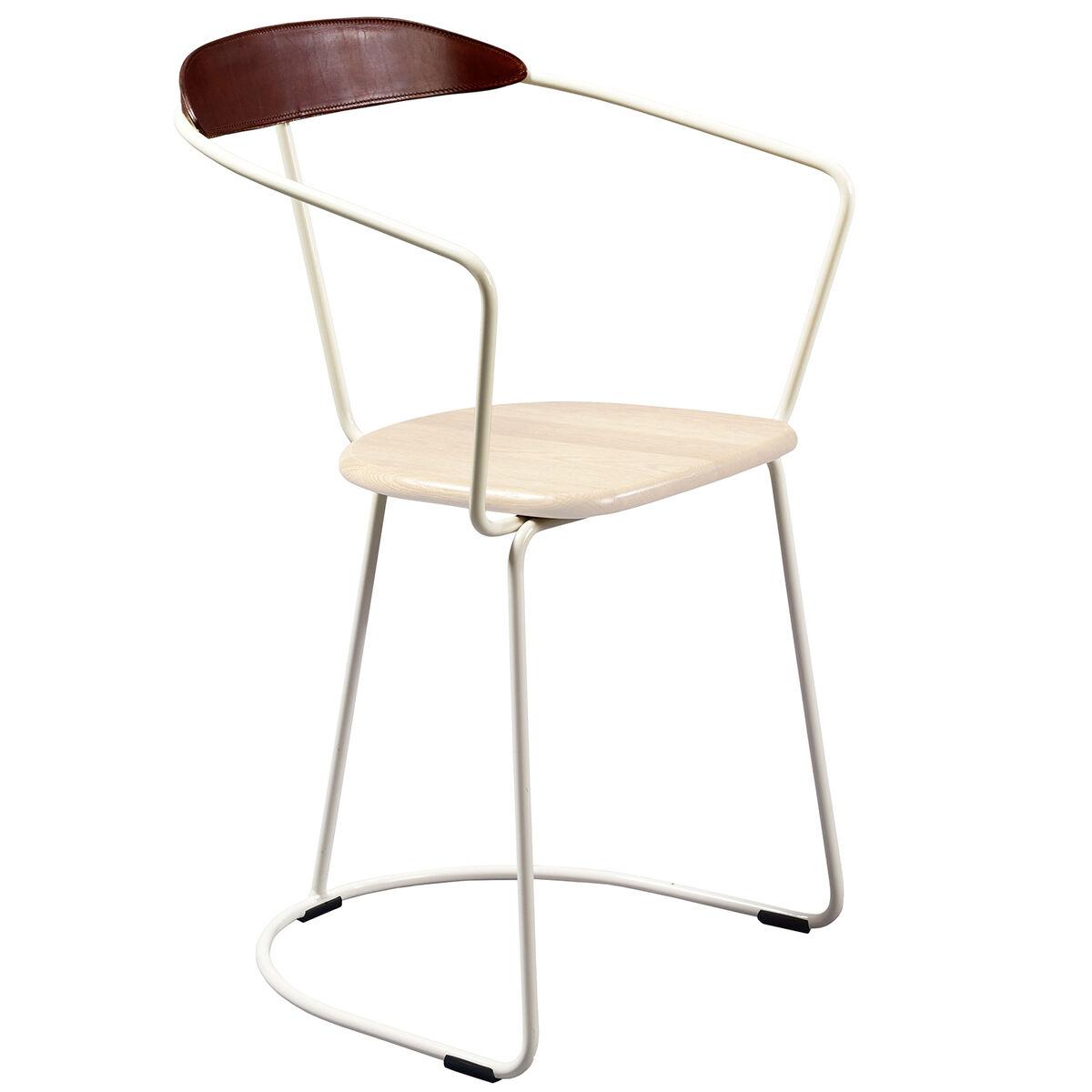 Minus Tio Ghost tuoli, kelkkajalka, valkoinen - koivu