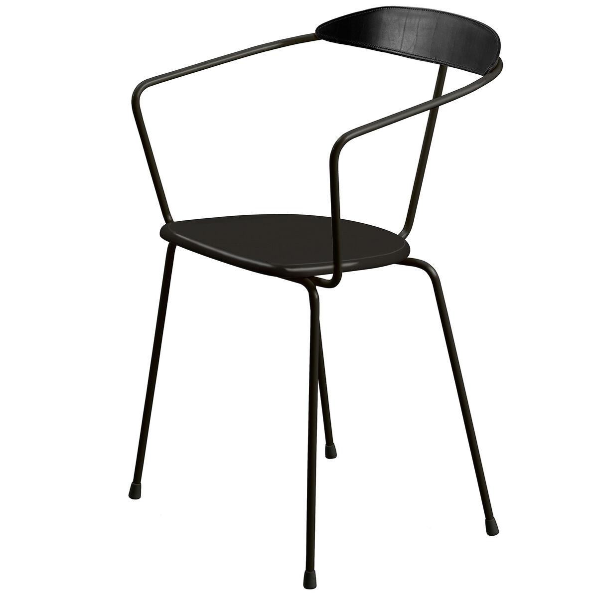 Minus Tio Ghost tuoli, suorat jalat, musta