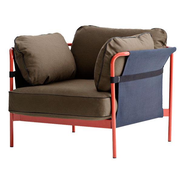 Hay Can nojatuoli, punainen-sininen runko, Army Canvas