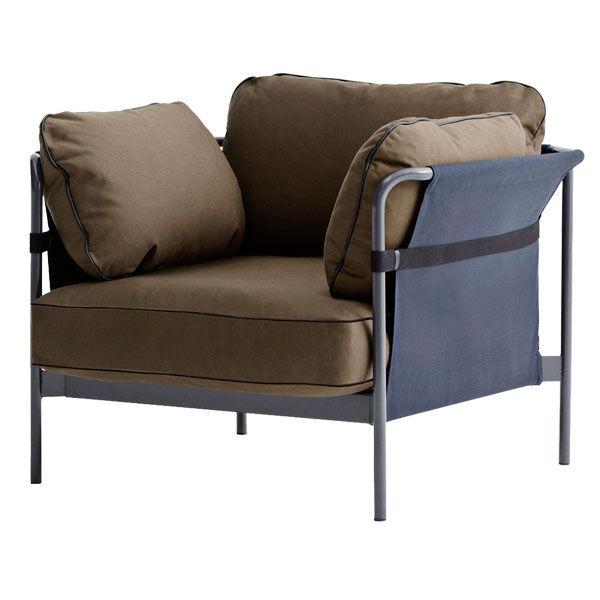 Hay Can nojatuoli, harmaa-sininen runko, Army Canvas